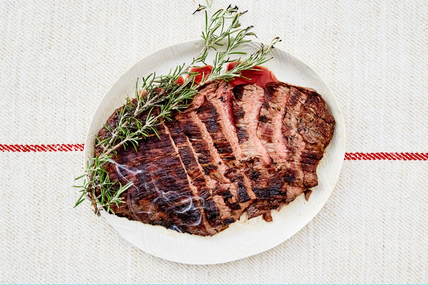 Flank Steak marinated and grilled