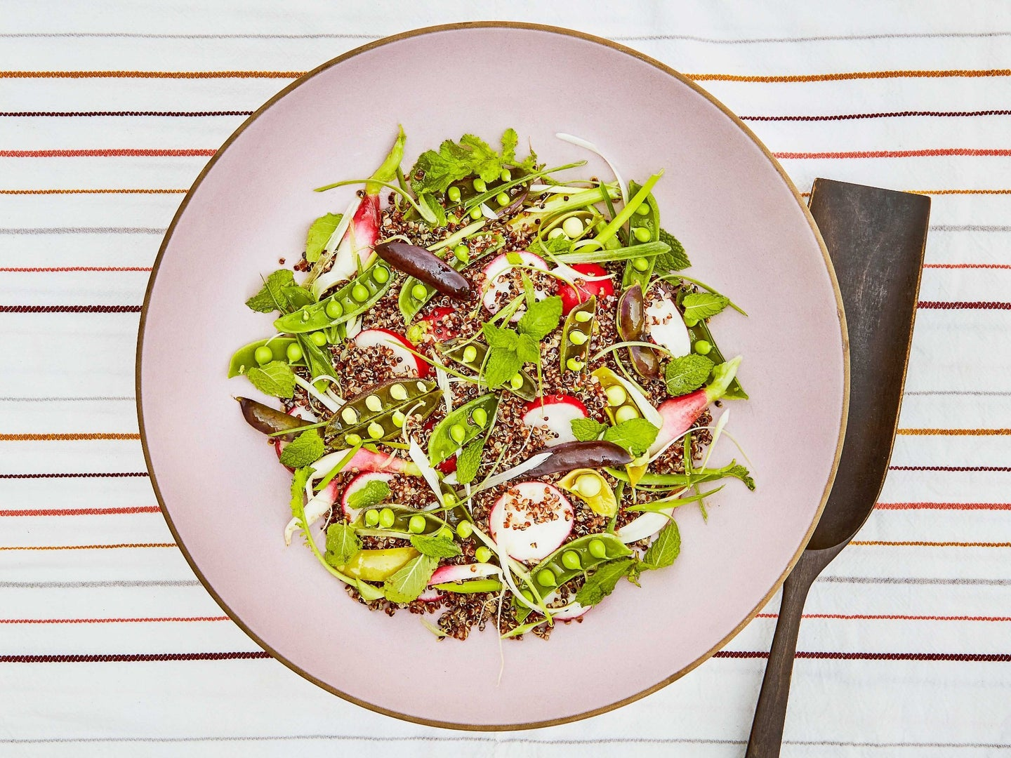 Quinoa Salad with Snap Peas, Scallions, and Mint