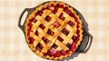 Blackberry Plum Lattice Pie