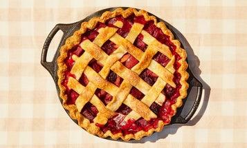 Plum-Blackberry Pie