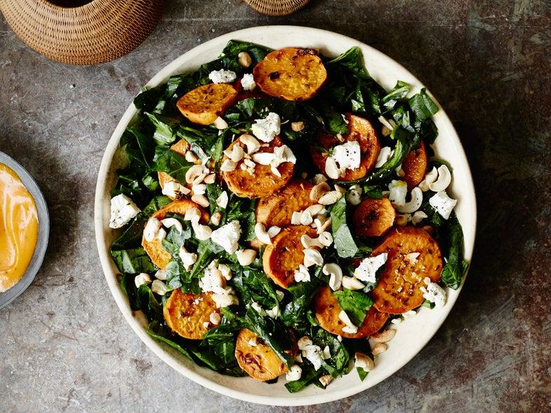 Sweet Potato Collard Green Salad, Senegalese Thanksgiving