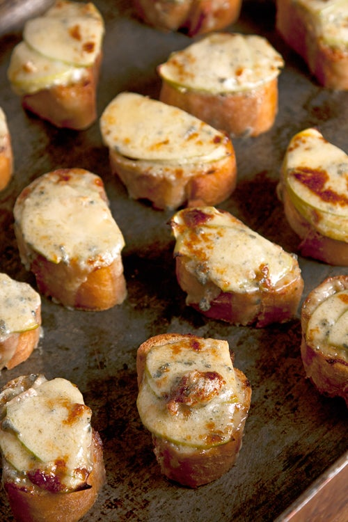 Apple and Stilton Welsh Rarebit Bites