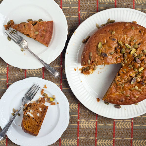 Pumpkin Spice Cake with Mascarpone
