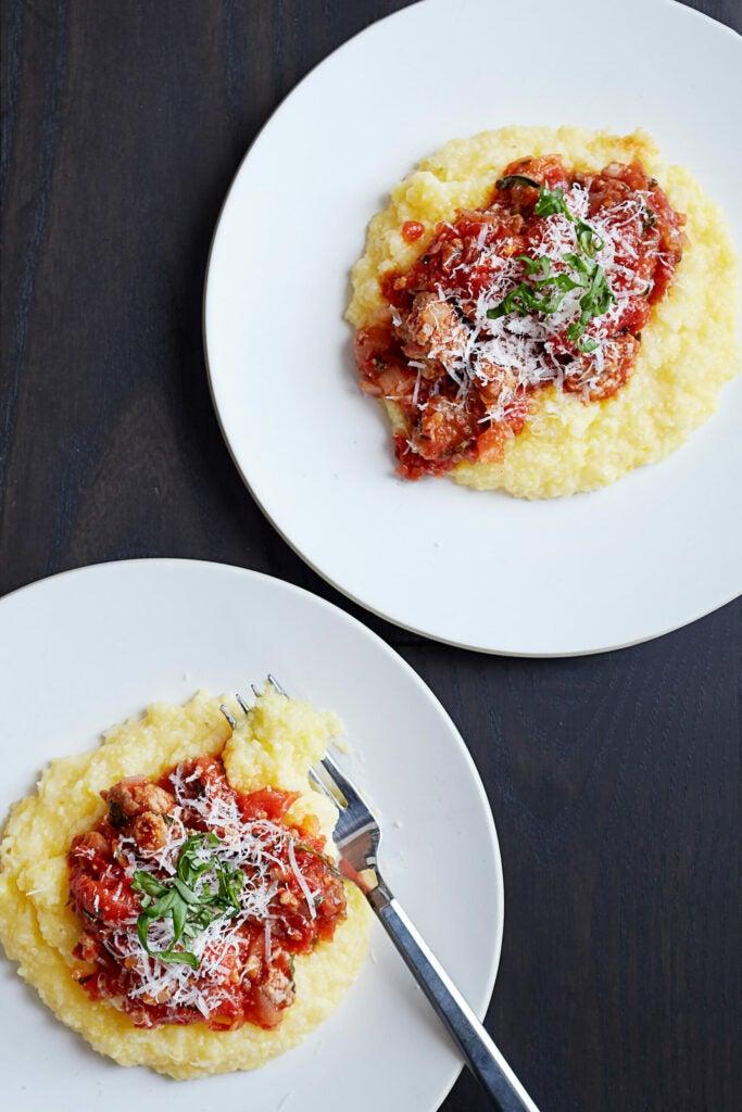 Parmesan Polenta with Sausage Ragù