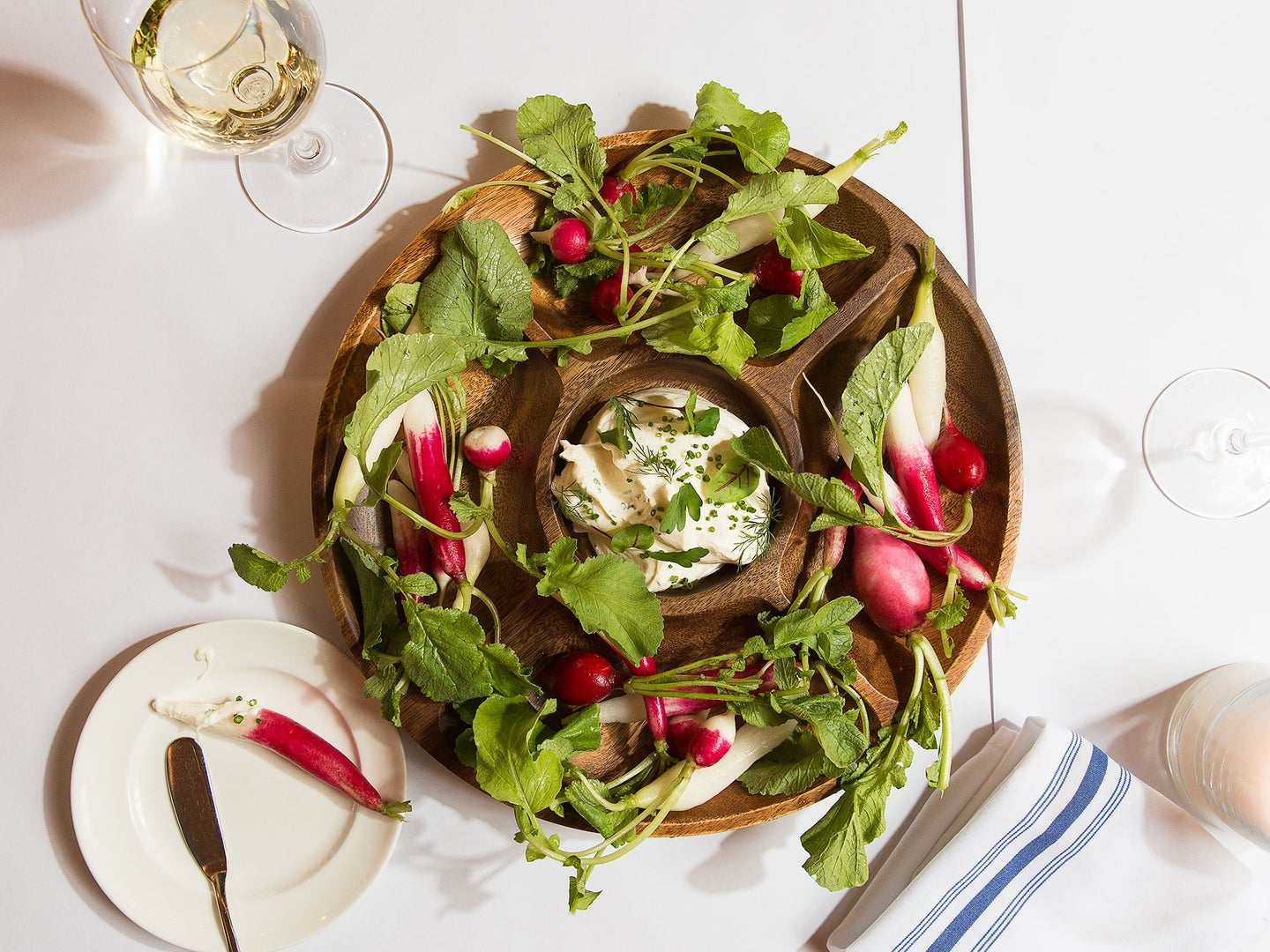 Fall Radishes with Boursin Dip