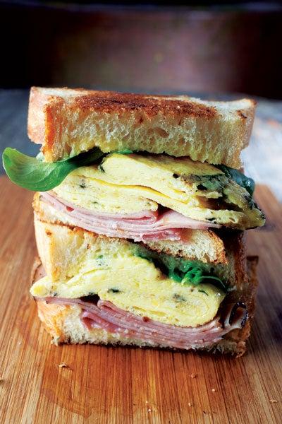 Ham, Cheese, Egg, and Lemon Sandwiches