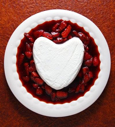 Coeur à la Crème with Caramelized Strawberries