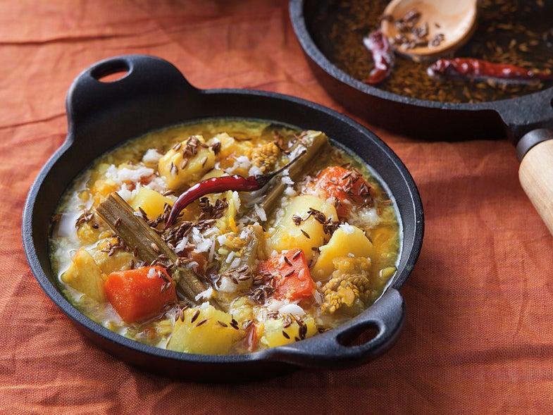 Lentil Stew with Coconut (Dalma)