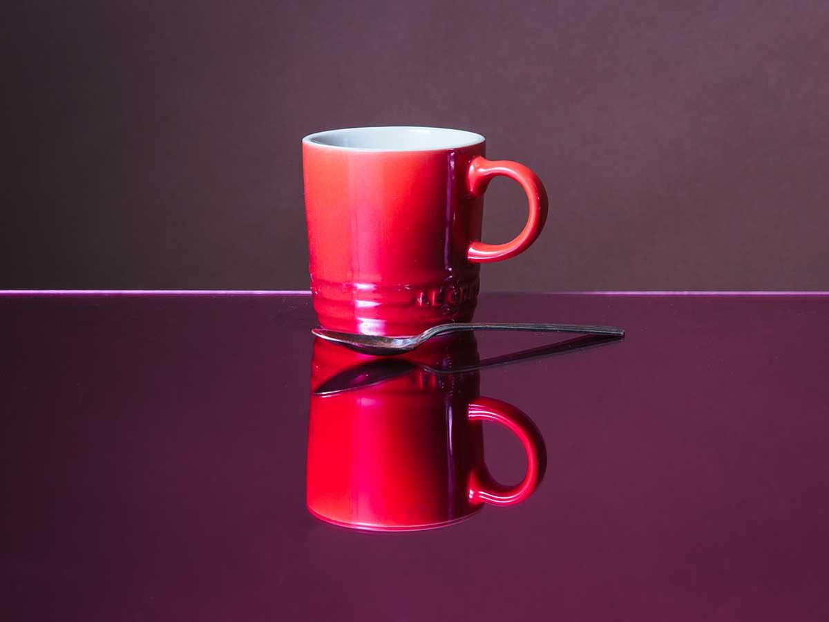 Le Creuset PG90033A-0067 Stoneware Mug, 14 Ounce, Cerise