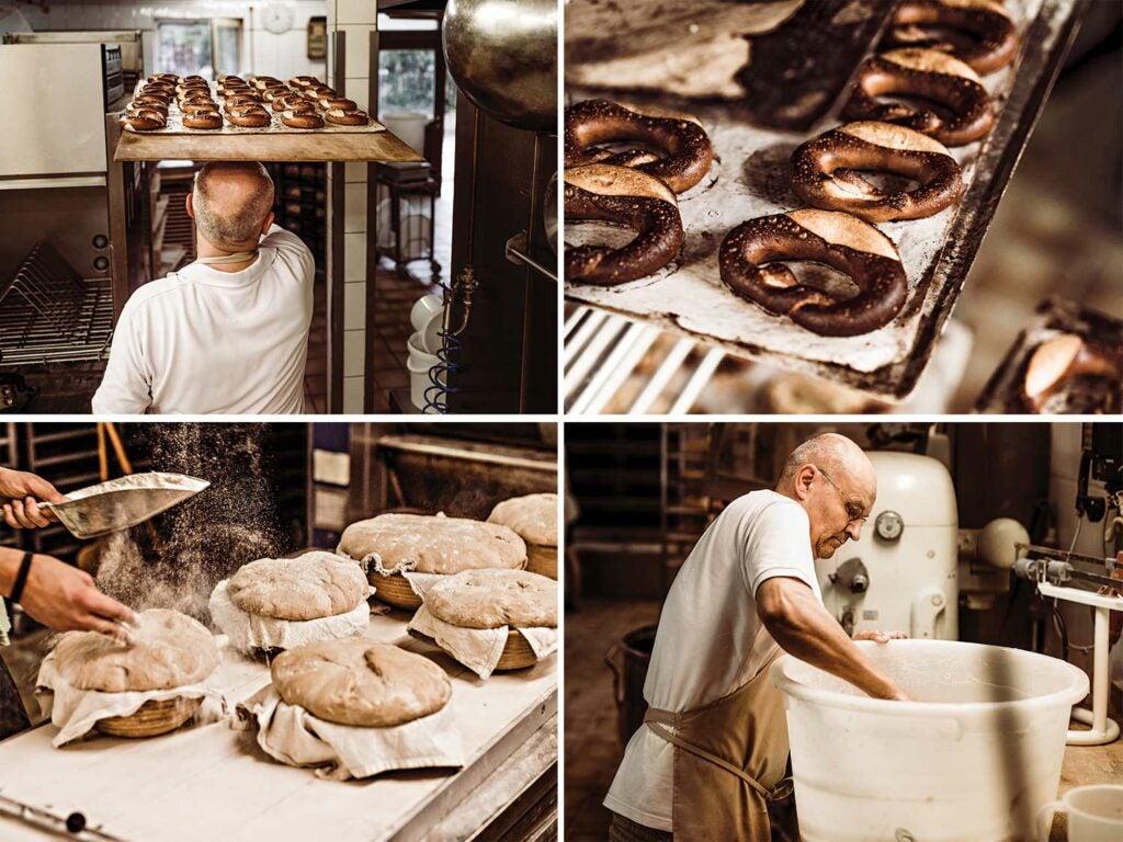 prepping pretzels