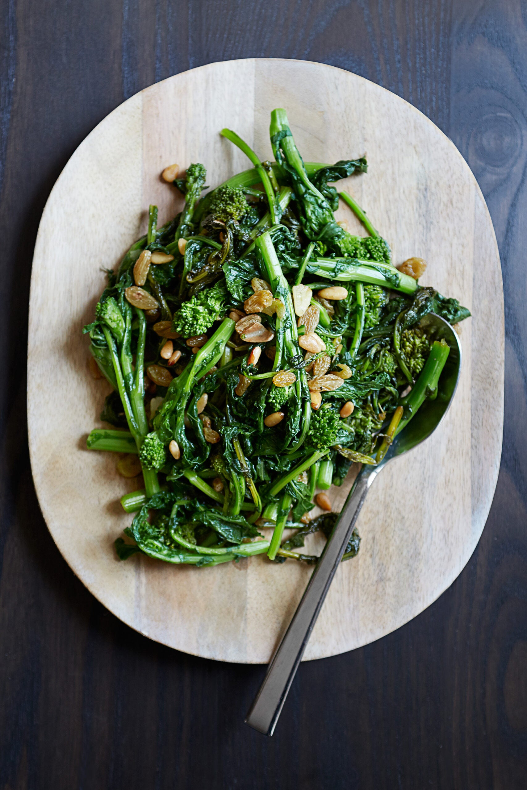 Broccoli Rabe with Pine Nuts & Golden Raisins