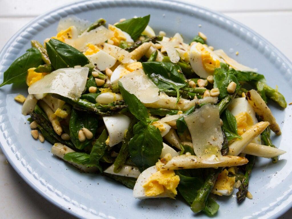 Charred Asparagus and Egg Salad