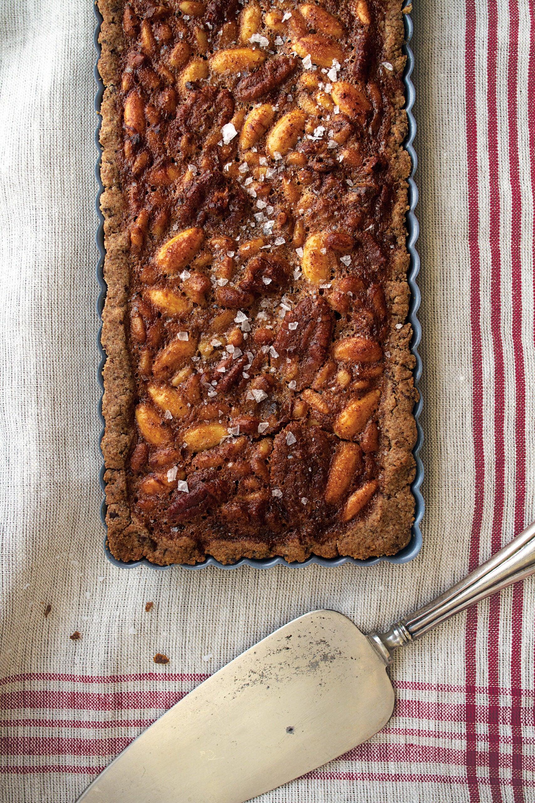Honey-Nut Tart with Chocolate Rye Crust, Late Winter Feast