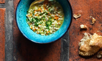 Pearl Barley Soup with Moscato d'Asti