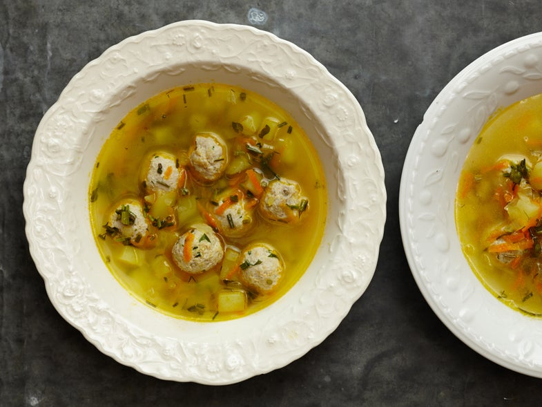 Frikadelki Turkey Meatball Soup with Fermented Herbs