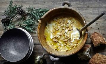 Pumpkin Soup with Orange and Parmigiano-Reggiano