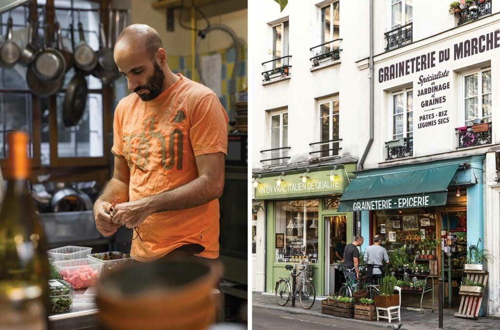 Omar, owner of Paris cafe