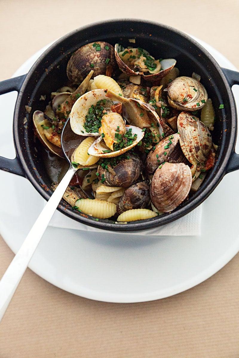 Pasta Shells with Artichoke-Clam Sauce