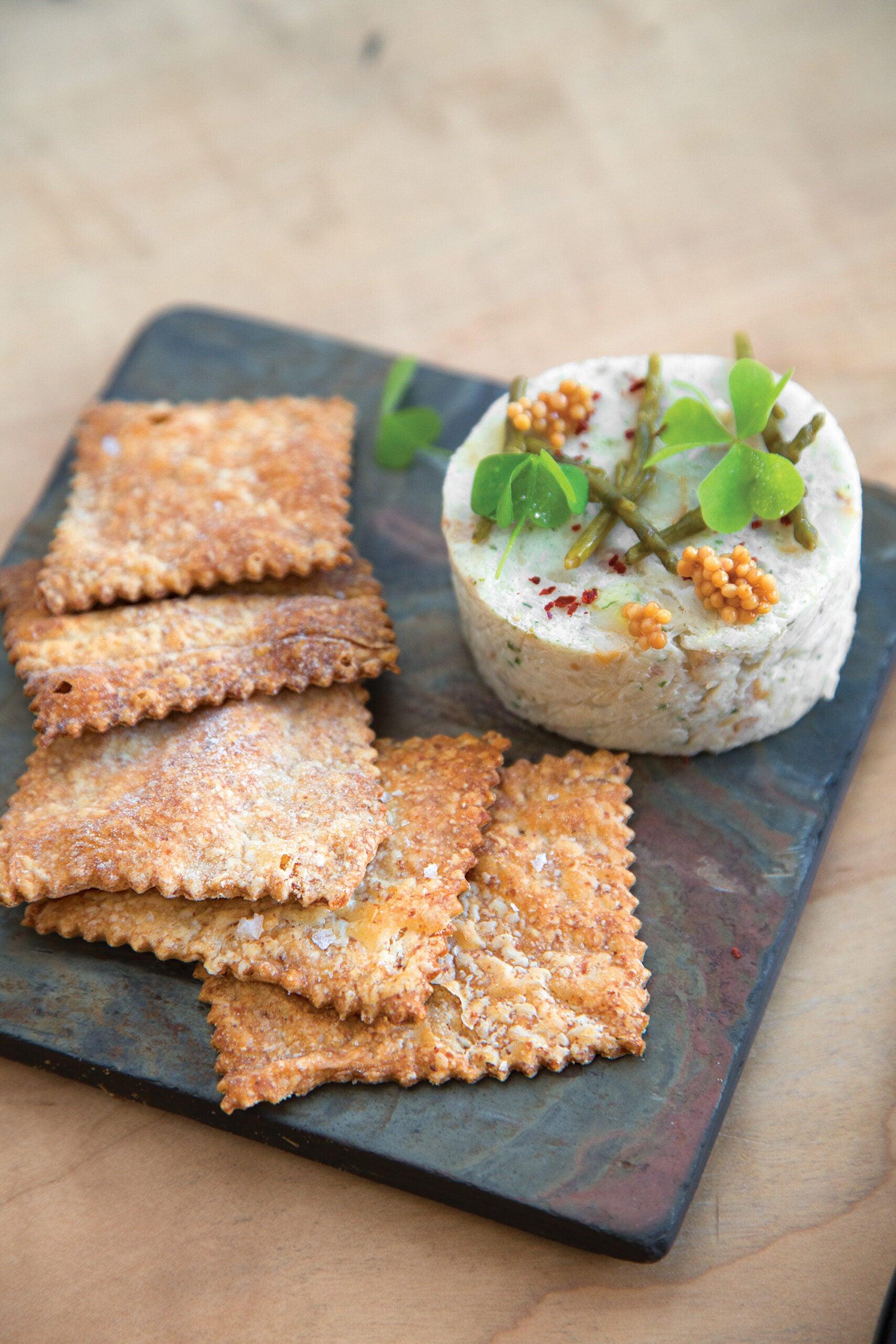 Smoked Bluefish Pâté with Hardtack Crackers