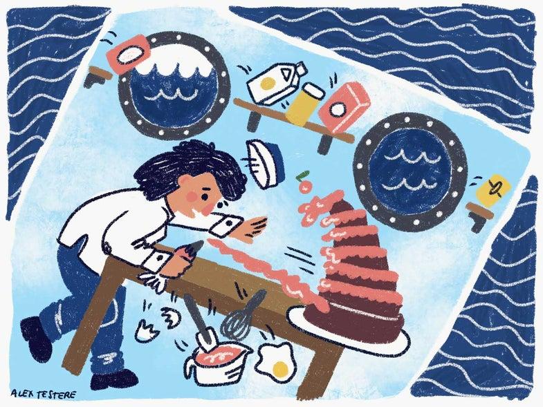 baking at sea