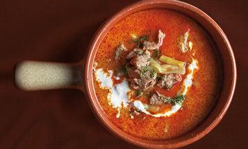 Lamb Soup With Sour Cream (Palócleves)