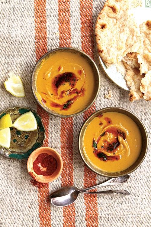 Red Lentil and Squash Soup (Shorabit Jarjir)