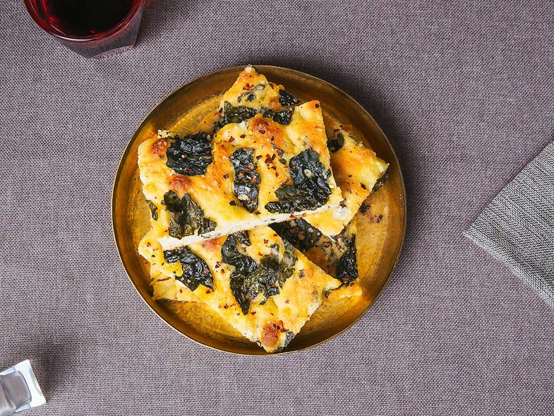Tuscan Kale and Red Pepper Focaccia