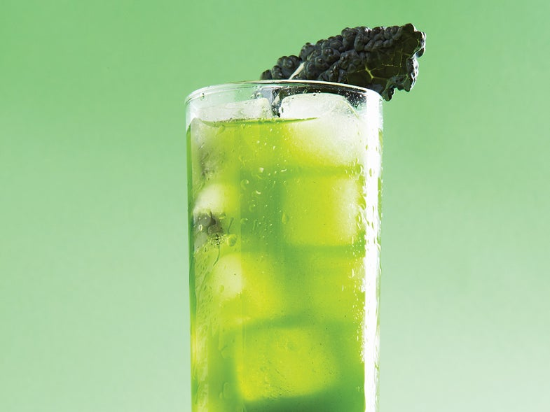 Leaf and Spear, Kale Rum Cocktail