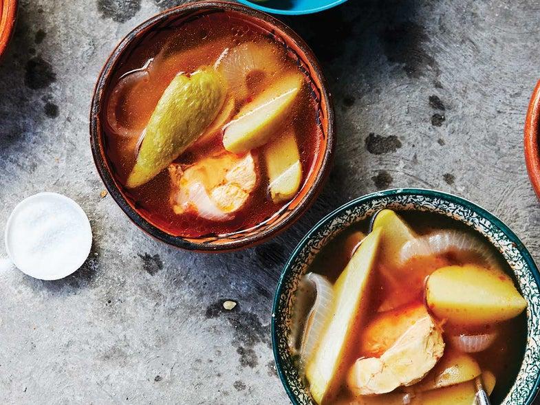 Mexican Chicken and Vegetable Soup (Caldo de Pollo)