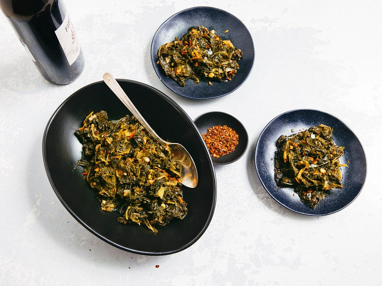 Spicy Braised Kale