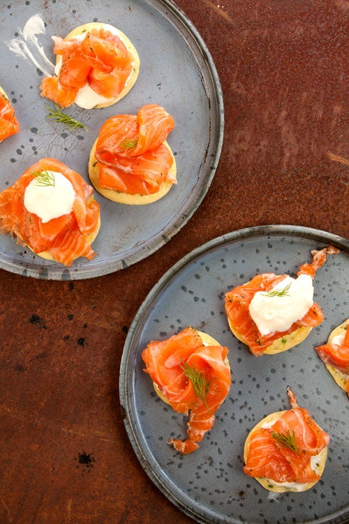Gravlax with Blinis