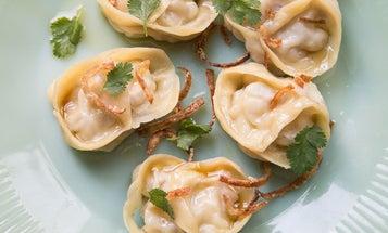 Steamed Pork Belly Dumplings with Brown Butter (Manti)