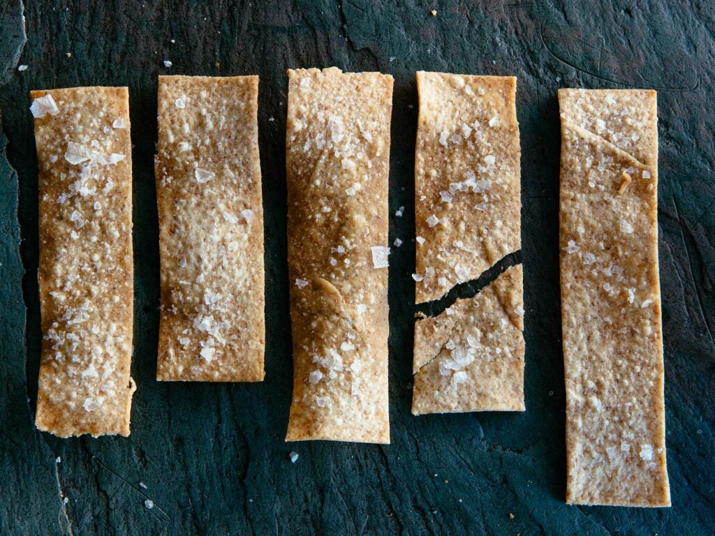 Olive oil crackers for Road Trip Food