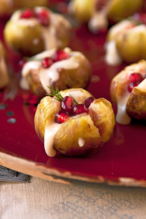 Robiola-Stuffed Figs with Pomegranate
