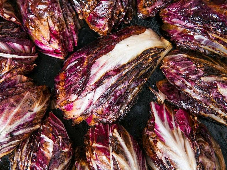 Seared Radicchio with Raisins and Shaved Parmigiano