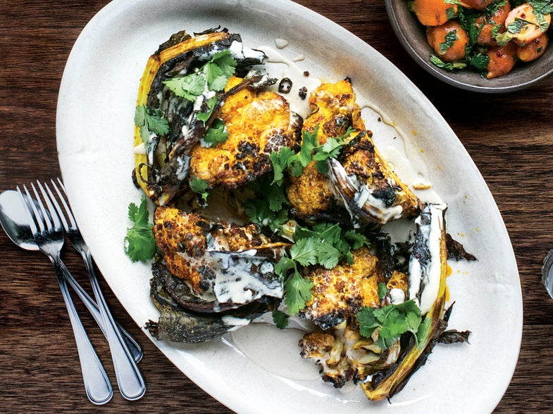 Spicy Roasted Cauliflower with Tahini