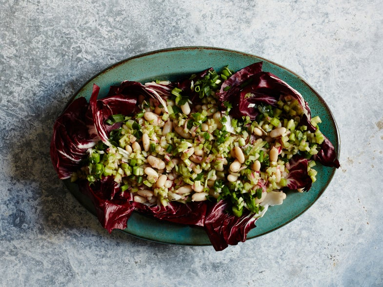 Cannellini Bean Salad with Radicchio and Celery