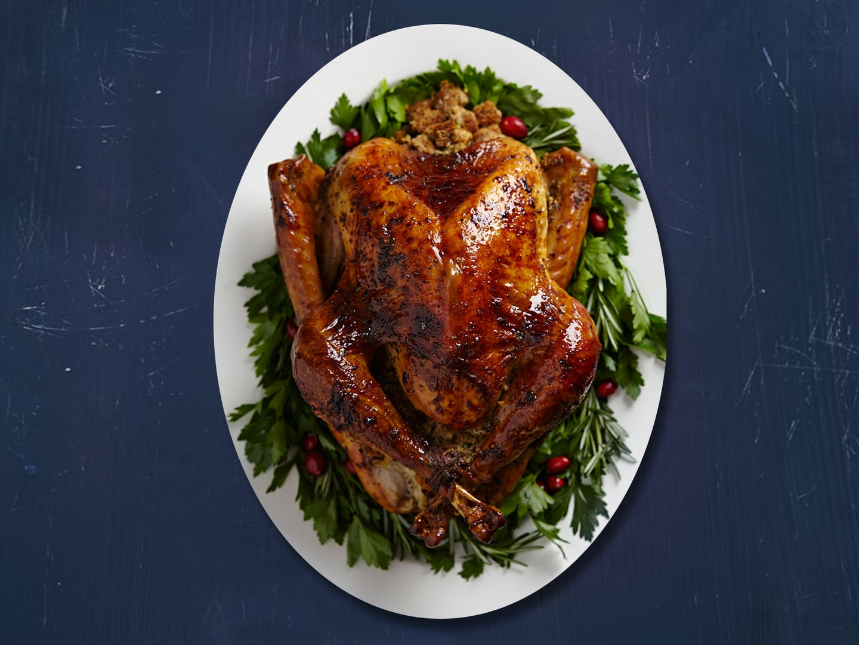 Brined and Roasted Turkey