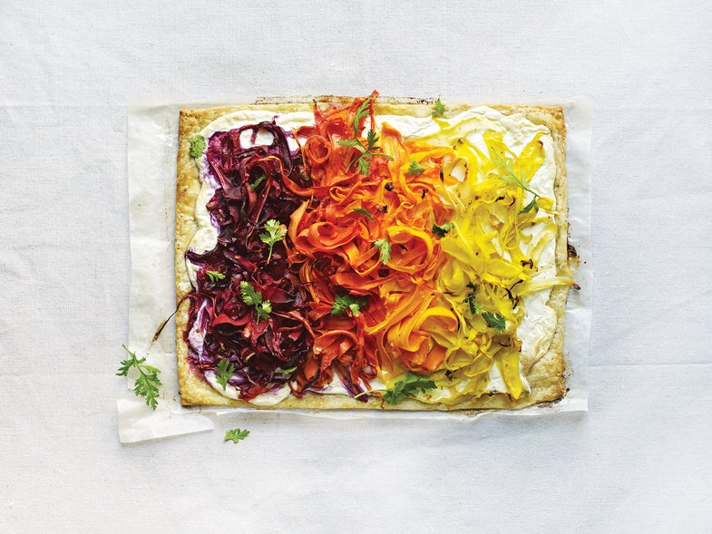 Shaved Carrot Tart with Ricotta