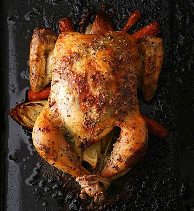 Sara's Roast Chicken with Sage and Garlic