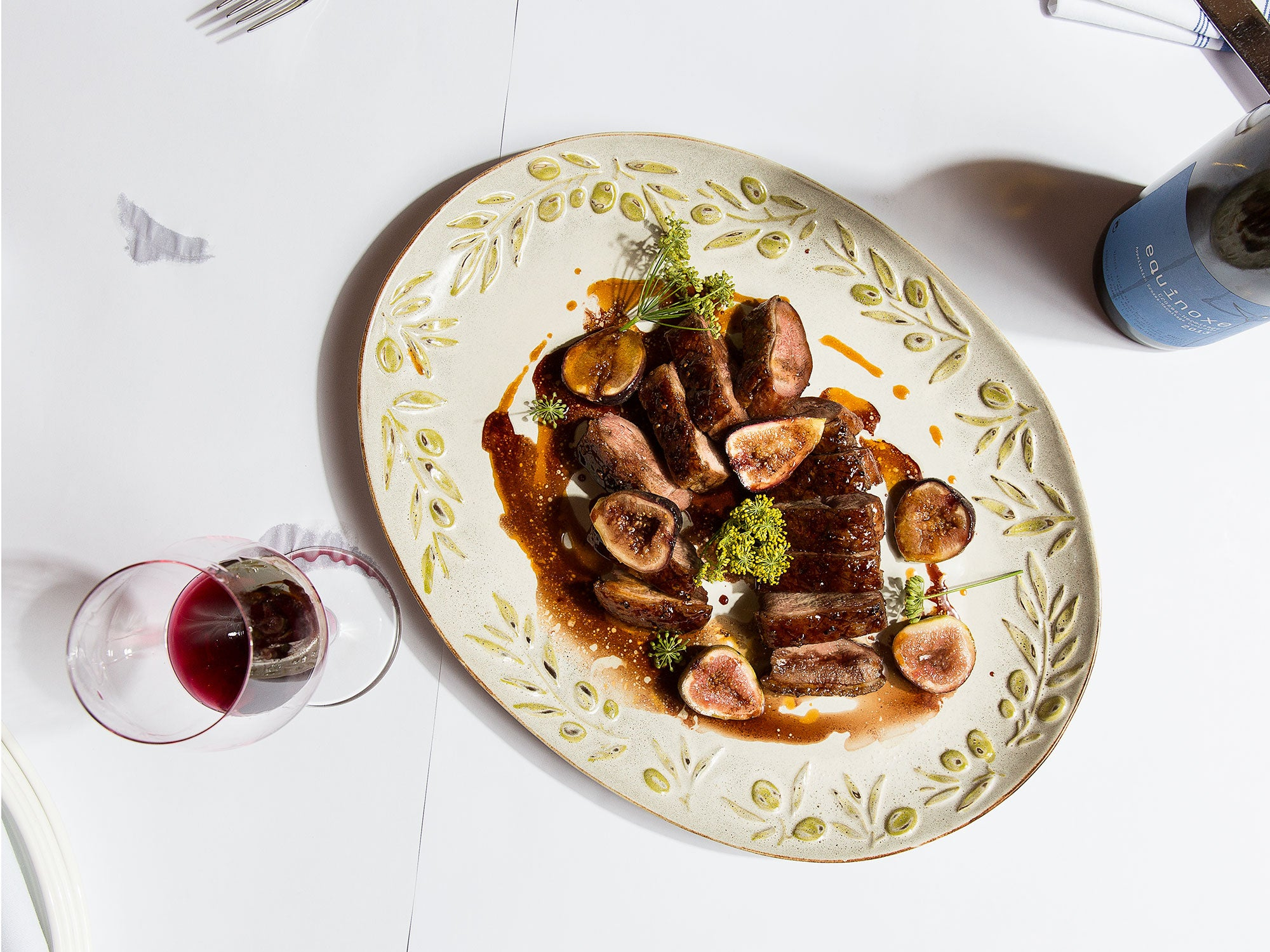 Roast Duck with Figs