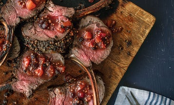 Juniper Berry-Crusted Rack of Venison with Mostarda