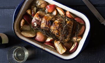 Honey-Glazed Roast Pork with Apples
