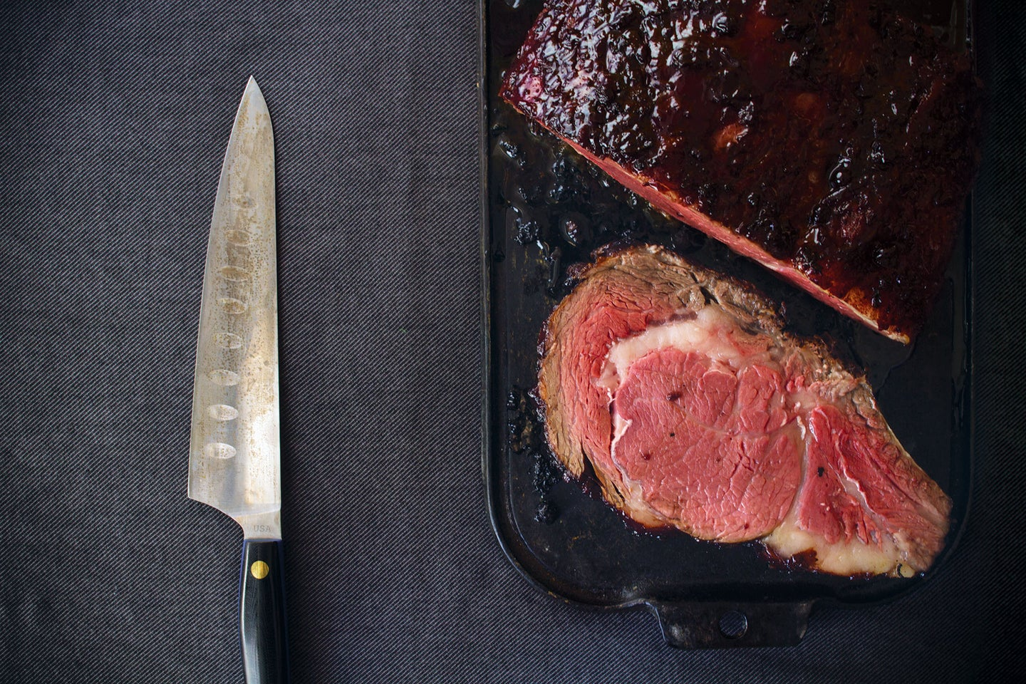Standing Rib Roast with Currant Port Glaze, Late Winter Feast