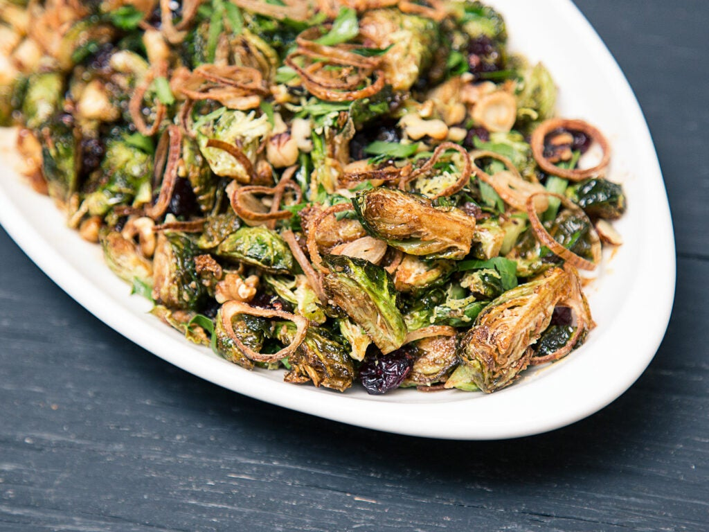 Sara Gore's Fried Brussel Sprouts