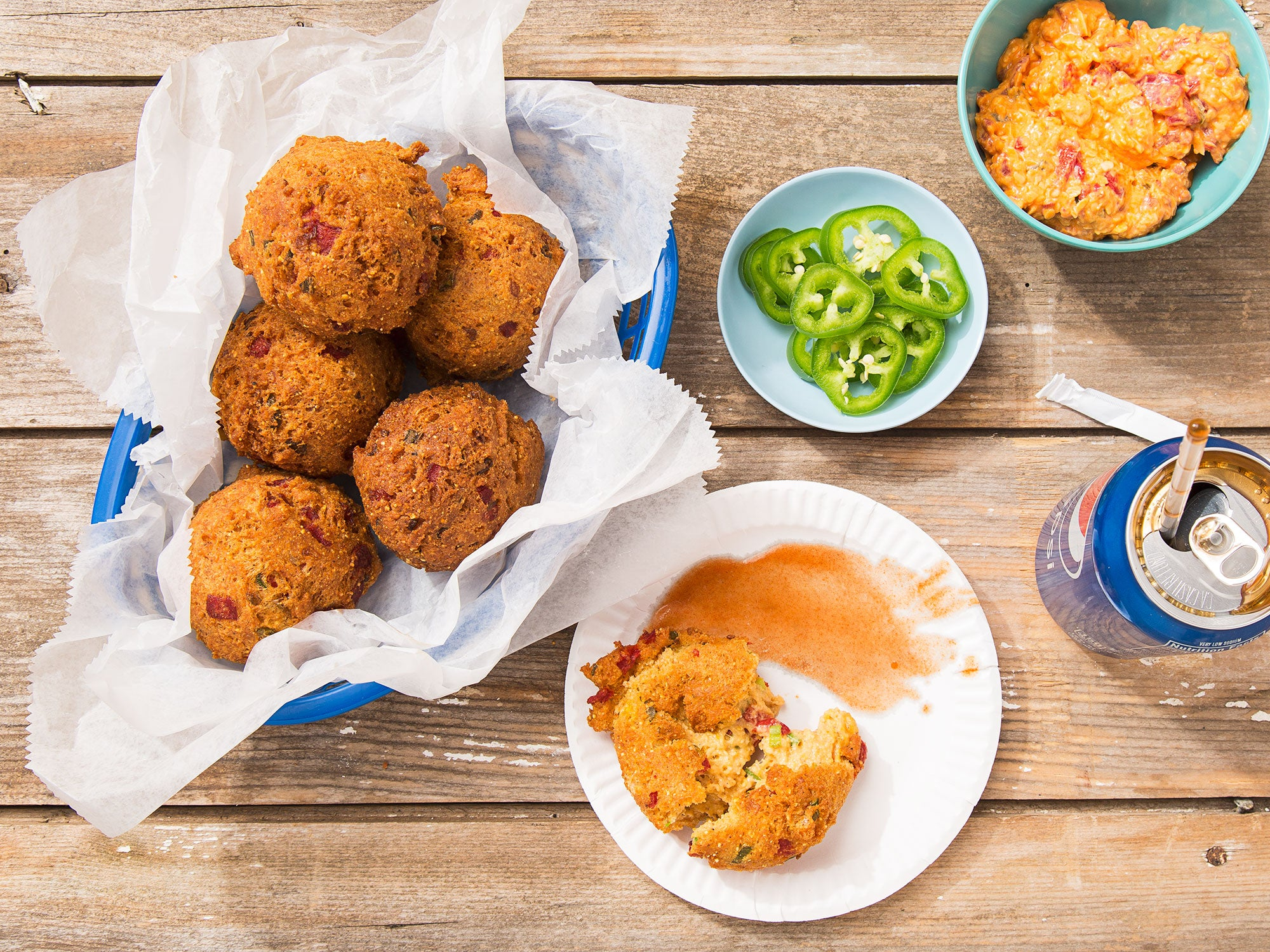 Pimento Cheese Hush Puppies