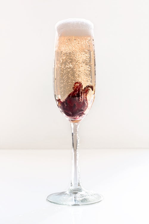 Hibiscus Rose champagne cocktail