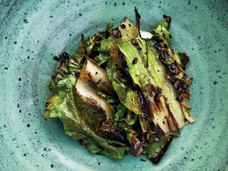 Lummi Island, Charred Escarole Salad