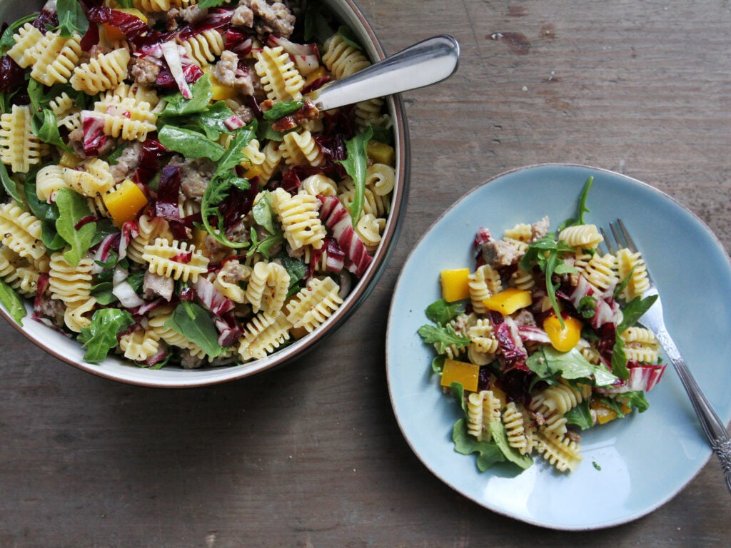 Sausage and Arugula Pasta Salad for 4th of July Recipes