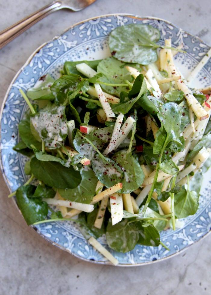 Kohlrabi and Watercress Salad